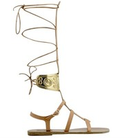 Ancient Greek Sandals with LALAoUNIS Rhodes High Sandals by Ancient-Greek-Sandals.com