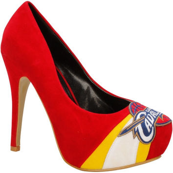 Cleveland Cavaliers Ladies Suede Pumps - Red