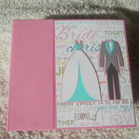 6x6 Pink Wedding Scrapbook Photo Album
