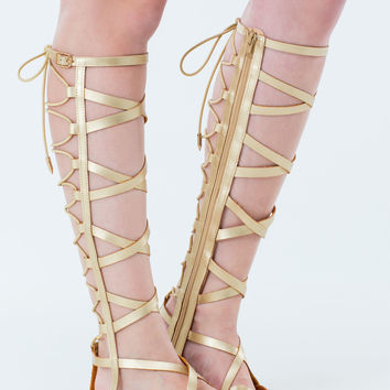 44d84fd4cd4e X In Line Gladiator Sandals from GoJane