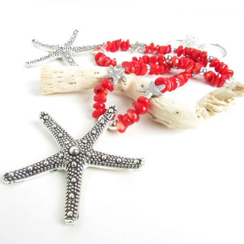 Curtain Tiebacks, Shabby Chic Tiebacks, Starfish Tiebacks, Coral Tiebacks, Beach Decor, Starfish Decor, Nautical Tiebacks, Ocean Tiebacks
