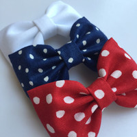 Fourth of July Seaside Sparrow hair bow set 4th of July hair bows for teens hair bow Hair bows for teens Hair bows for girls bows accessory.