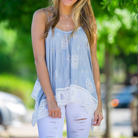 Always There Tank Top-Grey – Simply Dixie Boutique
