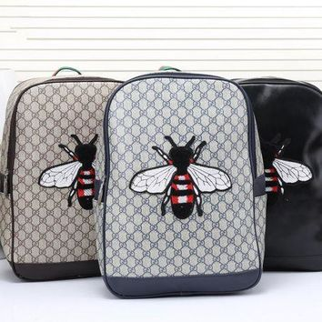 DCCKH3L Gucci' Men Casual Fashion Classic Print  Bee Embroidery Backpack Large Capacity Travel Double Shoulder Bag
