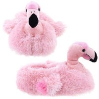 Wishpets Adult Medium Pink Flamingo Slippers