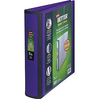 Staples Better View 1.5-Inch D 3-Ring View Binder, Purple (19061) | Staples