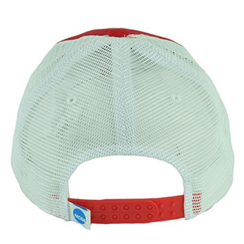 NCAA Wisconsin Badgers Distressed Mesh Snapback Trucker Hat Cap Relaxed Slouch