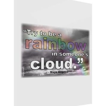 Rainbow in Cloud M Angelou Gloss Poster Print Portrait - Choose Size by TooLoud