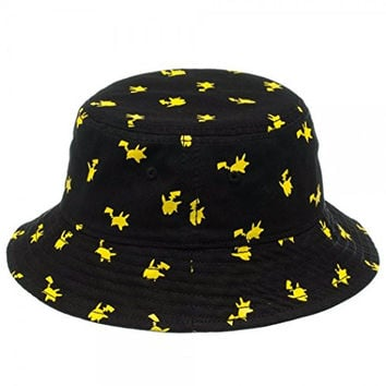 1 X Nintendo Pokemon Pikachu All Over Print Bucket Hat