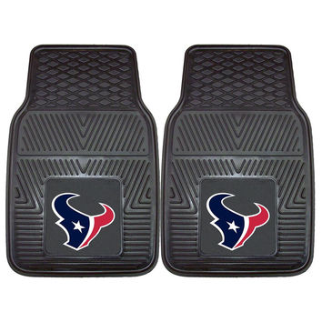 Houston Texans NFL Heavy Duty 2-Piece Vinyl Car Mats (18x27)