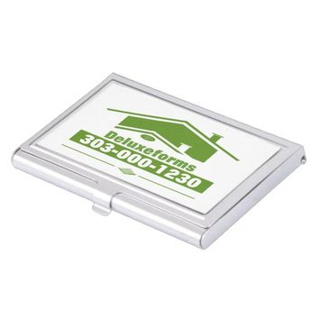 Green Roof Case For Business Cards