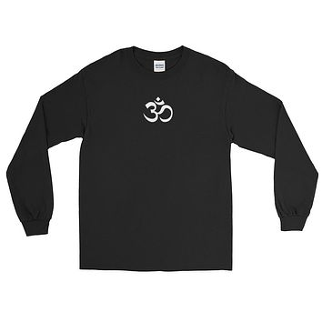 Ohm Chakras on Back Long Sleeve T-Shirt