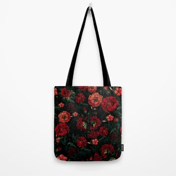RED NIGHT Tote Bag by VS Fashion Studio