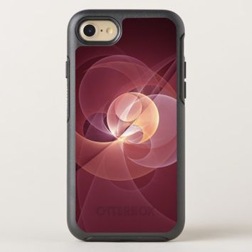 Movement Abstract Modern Wine Red Pink Fractal Art OtterBox Symmetry iPhone 8/7 Case