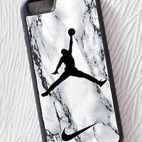Air Jordan White Marble Nike Logo For iPhone 6/6s, 6s Plus Print On Hard Case