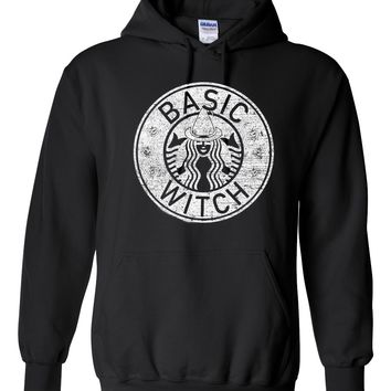 Basic Witch  - Pull Over, Hooded Sweatshirt