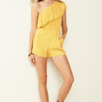 Ten Sixty Sherman One-Shoulder Ruffle Romper | Nordstrom