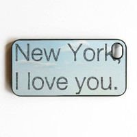 iphone 4 case New York I love you City New York State by MursBlanc