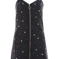 MOTO Star Stud Pinafore Dress - Dresses - Clothing
