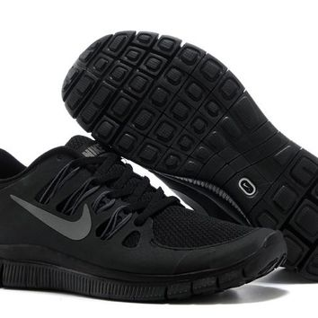 Women s Nike Free 5.0 V2 Shoes Black Silver 0b016e421