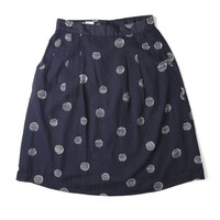 Ondine Navy Dots Skirt