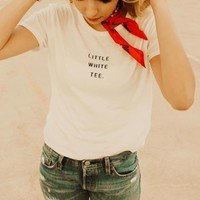 """Little White Tee"" Graphic Tee"