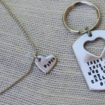 There is this Girl... Daddy/Daughter Keychain, Necklace Set - Father's Day Gift - His and Hers Personalized Keychain/necklace