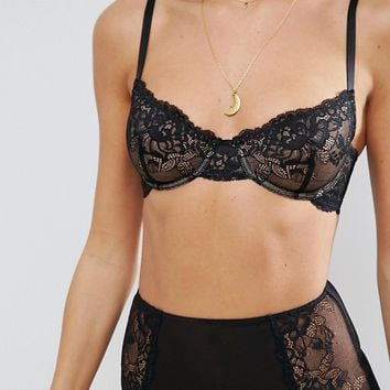 ASOS Ria Basic Lace Mix & Match Underwire Bra at asos.com