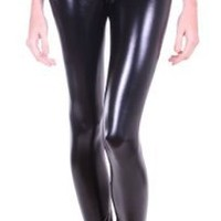 Simplicity Women's Faux Leather Leggings Pants Treggings Tights