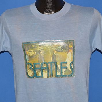70s Beatles Iron On Abbey Road Album Sparkly t-shirt Small