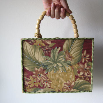 Tropical Pineapple Cigar Box Purse