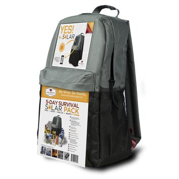 Wise Foods Survival Backpack 5 Day Solar