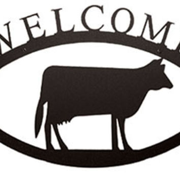 Cow - Welcome Sign  Large