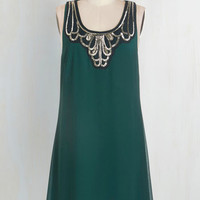 Mid-length Tank top (2 thick straps) Shift Idea on Arrival Dress in Teal by ModCloth