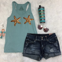 Sequin Starfish Tank