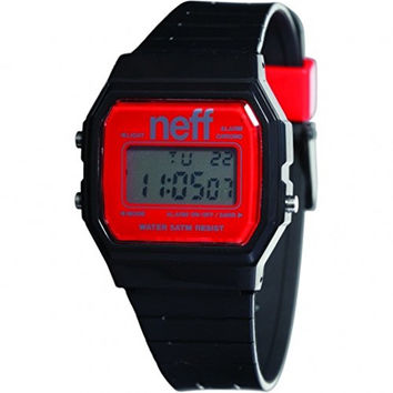 Neff Unisex NF0204BKRD Flava Digital Display Chinese Automatic Black Watch
