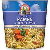 Dr. McDougall's Vegan Chicken Soup with Organic Ramen Noodles Big Cup - Pack of 6