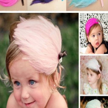 Fancy Feather Baby Headband (multiple color available) - CPF