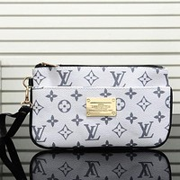 Louis Vuitton LV Trending Women Stylish Leather Zipper Clutch Bag Tote Handbag Satchel I/A