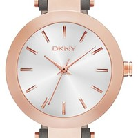 Women's DKNY 'Stanhope' Leather Strap Watch, 28mm