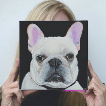 Dog paintings Custom painting painting dogs dog portraits custom custom pet painting custom dog portraits French bulldog painting