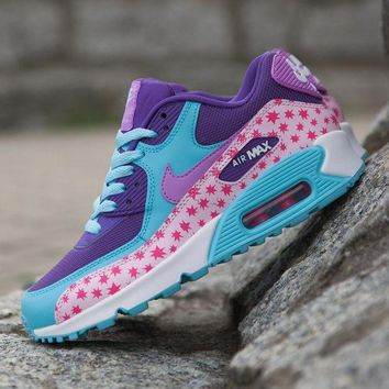 CREYNW6 Sale Nike Air Max WMNS 90 Premium Mesh Gs Prism Pink Running Shoes Sport Shoes 724875-600