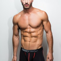 Neon Red Stitch Boxer Brief (Black)