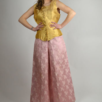 Vintage Pink Pants, Disco Pants, Bell Bottoms, Glitter Pants, Hippie Pants, Fancy Pants, Disco Costume, Wide Leg Pants,
