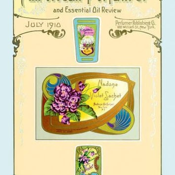 American Perfumer and Essential Oil Review, July 1910 20x30 poster