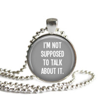 Castiel Supernatural Quote Necklace I'm Not Suppose To Talk About It
