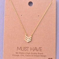 Dainty Triple Chevron Necklace - Gold, Silver or Rose Gold