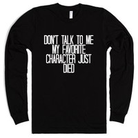 My Favorite Character Died-Unisex Black T-Shirt