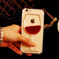 Red Wine Clear Transparent Phone Case