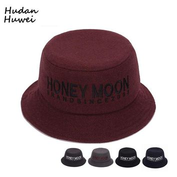 Autumn Winter Men Women Bucket Hats Fashion Felt Trilby bowler hat derby Portable Fisherman's Hat chapeau for unisex GH-258